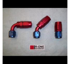 Raccordo R-ONE AN6 per tubo in gomma 8mm - 90°