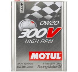 Motul 300V HIGH RPM 0W20 2L olio motore